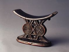 Africa | Headrest ~ 'Mutsago' ~ from the central Shona people of Zimbabwe | Wood; rich old patina | Late 19th century