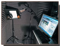 WhisperRooms are used for voiceover and vocal recording, as well as broadcasting booths. Here's an interior shot of a smaller recording booth.  WhisperRoom offers 20 sizes!