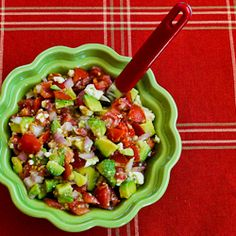 Kalyn's Kitchen®: Lisa's Cross-Cultural Salsa with Tomato, Avocado, Lime, and Feta (Low-Carb, Gluten-Free)