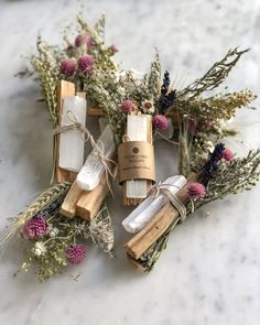 Floral Sage Smudge Stick & Palo Santo Bundle — Good Living is Glam Sage Smudging Sage Smudging, Smudge Sticks, Deco Floral, Dried Flowers, Diy Gifts, Herbalism, Diy And Crafts, Projects To Try, Magick