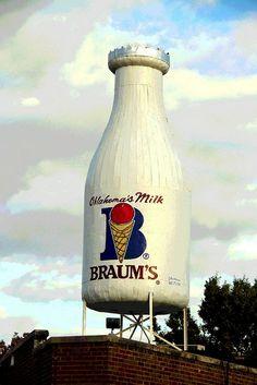 Braum's Giant Milk Bottle.....Oklahoma City