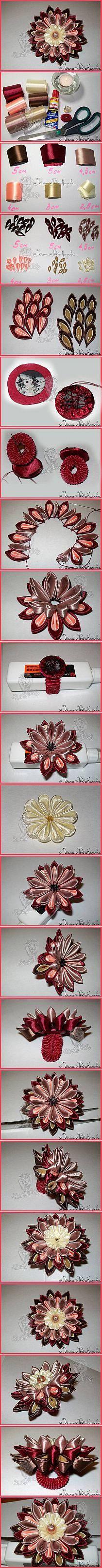 kwiat ze wstążki