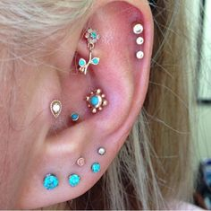I want all these piercings and earrings