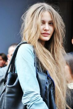 if only my hair looked this good messy.