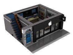 10182 10185 10211 10218 10232 LEGO Apple Reseller Modular Building Instructions for sale online Lego Creations Instructions, Big Lego, Lego Challenge, Amazing Lego Creations, Lego Construction, Lego Modular, Lego Design, Lego Projects, Custom Lego