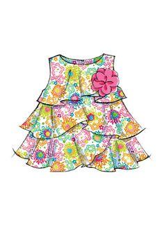 McCall's Sewing Pattern Infants' Tiered-Ruffle Dresses and Panties Ruffle Dress, Ruffles, Mccalls Sewing Patterns, Summer Dresses, Infants, Fashion, Young Children, Moda, Summer Sundresses