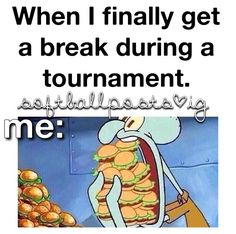 And then you feel sick as you play the next game because you ate 4 hot dogs and some ice-cream