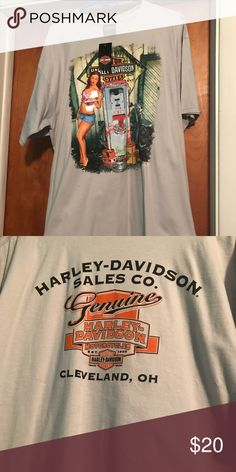 BNWT Men's Harley Davidson Tee Shirt Purchased & never worn. Smoke free, dog friendly home. The iconic Cleveland Harley Davidson dealership has now closed & your favorite enthusiast can have a piece of history with this shirt. Top rated seller, fast shipping, bundle discounts. Please ask any questions prior to purchase. Harley-Davidson Tops Tees - Short Sleeve