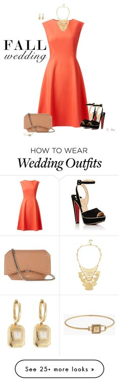 """Fall Wedding Guest"" by ksims-1 on Polyvore featuring John Lewis, Christian Louboutin, Givenchy, Robert Lee Morris, Shay, Rebecca Minkoff and fallwedding"
