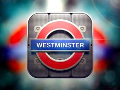 London Underground Ios Icon by Alex Bender, via Behance