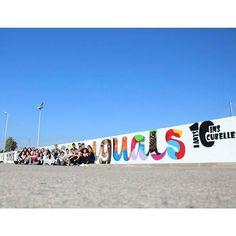 Hoy hemos realizado el mural final del curso sobre graffiti que hemos dado en el instituto de cubelles! con @irene_ilustracion !  TOTES LES PERSONES SOM IGUALS #graffiti #streetart #aero #arte #graffitiart #decoracion #mural #lettering #design #spray #colors #f4f #artist #style #painting #illustration #work #bcn #barcelona #arteurbano #rotulacion by aeroarte.com.es
