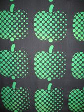 """Optinen omena"" vintage fabric by Finlayson Finland 70's"