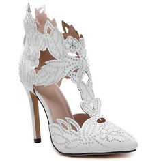 Fashion Women's Pumps With Hollow Out and Rhinestones Design