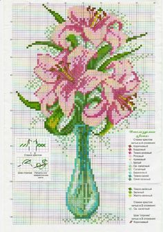 ru / Photo # 54 - flowers, embroidery schemes from the Internet - poodel Cross Stitch Numbers, Cross Stitch Boards, Cross Stitch Heart, Cross Stitch Flowers, Cross Stitch Kits, Funny Cross Stitch Patterns, Cross Stitch Designs, Cross Stitching, Cross Stitch Embroidery
