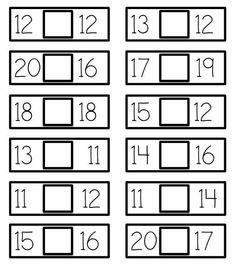 Printable Math Worksheets, Kindergarten Math Worksheets, Preschool Learning Activities, Kindergarten Reading, Teaching Math, Math Sheets, Math School, Math For Kids, Math Classroom