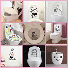 Big Mouth Toilet Stickers Wall Decorations Diy Vinyl Home Decal Mural Art Poster Diy Wall Decor, Wall Decorations, Home Decor, Bathroom Decals, Modern Shower, Mural Art, Bath Accessories, Vinyl Art, Wall Stickers