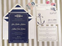 Americana Wedding Invitation Deposit by AmandaDayRose on Etsy