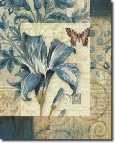 Cuadro Blue Moods Lily - Gladding, Pamela