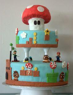 Super Mario Brothers Cake | Nintendo NES
