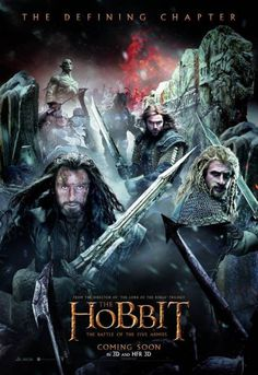 """A massive new poster for """"The Hobbit: The Battle of the Five Armies"""" depicts the ambitious scope of Peter Jackson's upcoming Middle-earth film, the final installment in the writer-director's latest. Legolas, Tauriel, Gandalf, Fili Y Kili, Thranduil, Hobbit 3, The Hobbit Movies, Bilbo Baggins, Thorin Oakenshield"""