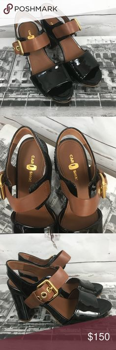 """Car Shoes Heels -Prada Group Gorgeous leather heels!!! Made in Italy by Car Shoes which is a member of Prada Group. Very gently used. One small area of color transfer, see photo, otherwise in excellent condition. Size 36. Heel height 4"""". The Original Car Shoe Shoes Heels"""