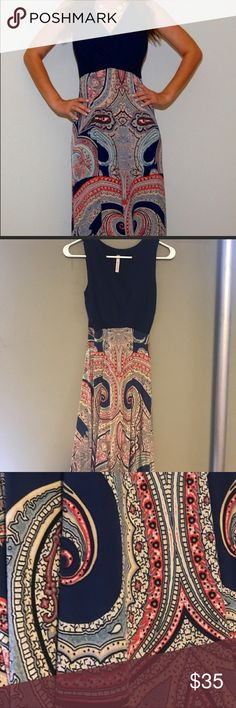 Gorgeous Stitch Fix maxi Gorgeous and flattering! Stitch Fix maxi-Navy top and paisley bottom Gilli Dresses Maxi