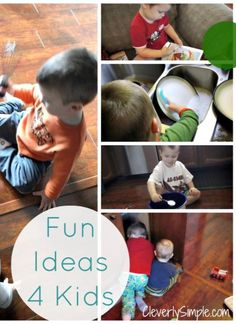 FREE Fun and Simple Activities for Kids!  You have everything you need already!