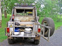 """Tailgate cooking on the Cobb Grill. ASIA """"ROCSTA"""" was once made onder licence to Jeep™"""