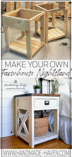 Diy Furniture Table, Diy Furniture Projects, Diy Furniture Plans, Farmhouse Furniture, Diy Wood Projects, Farmhouse Decor, Furniture Making, Furniture Storage, Woodworking Projects