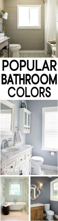Repainting your bathroom? Check out these tried and true bathroom paint colors!