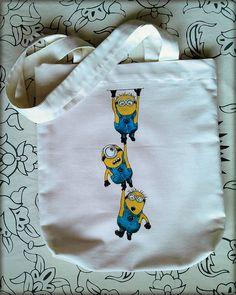 Minion Rush Tote Bag 'Handpainted' Despicable Me by FeslegenDesign, $35.00 #Minions #MinionRush