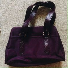 small purple br bag with a zipper Banana Republic Bags Mini Bags