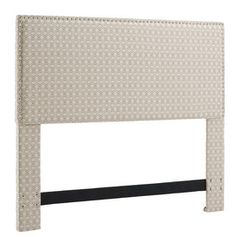 Upholstered Headboard in Gray Dot Matrix