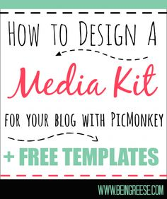 For people looking to make money with their blogs, a media is a necessity. With a little work, you can design a media kit for free.