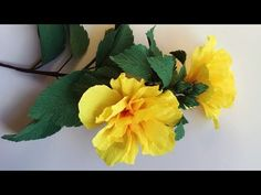 ABC TV | How To Make Double Hibiscus Paper Flower From Crepe Paper - Craft Tutorial - YouTube