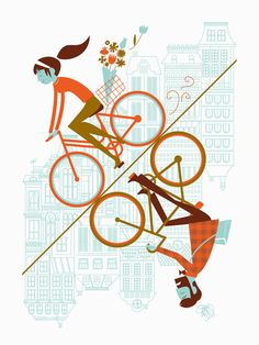 Uphill Downhill ARTCRANK Poster by AlbertandMarie on Etsy