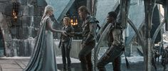 The Huntsman Winters : Photo Chris Hemsworth, Emily Blunt, Jessica Chastain