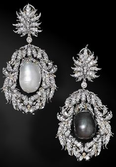 Buccellati Baroque pearl and diamond earrings.