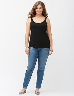 Soft, smooth knit, charming scoop neck and back, and endless possibilities; there's nothing not to love about this versatile tank! Spoiler alert: you'll want one in every color. lanebryant.com