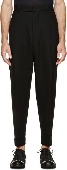 Haider Ackermann - Black Oversized Trousers