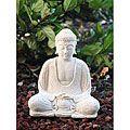 White Sandstone Buddha Statue (Indonesia) | Overstock.com