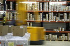 Entrepôt de stockage de marchandises