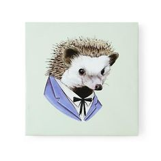 Hedgehog Animal Portrait Wall Art. Totally going to have a Hedgehog Nursery ;)