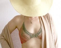Lace crochet bra Crochet bralette Crochet bikini top by MarryG …