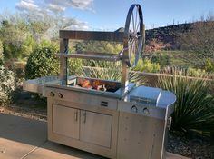 This @kalamazoogrills Gaucho Grill will be the focal point of your outdoor kitchen!