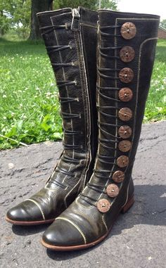 Zip Medium (B, M) Riding, Equestrian 7 Boots for Women Leather Riding Boots, Combat Boots, Faerie Costume, Unique Dresses, Green Leather, Shoe Boots, Shoes, Larp, Equestrian