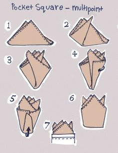 How to fold a handkerchief #Infographics