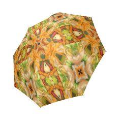 Shrimp, broccoli and rice 2281 by khoncepts.com Foldable Umbrella