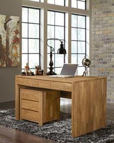La mesita Elsa 30 actúa como el perfecto mobiliario auxiliar capaz de cubrir las necesidades de almacenaje de despachos. Sus 3 cajones son especialmente prácticos para ahorrarte espacio y que guardes todo lo que necesites. ¡No dude a combinar con escritorio Elsa!  Material: Madera de Roble Macizo.  Colores: Roble Natural y Roble Blanqueado.  Dimensiones: Longitud 56,4 cm X Ancho 44 cm X Altura 55 cm.  Peso: aprox. 30,2 kg. Office Desk, Furniture, Home Decor, Wood Tables, Wooden Desk, Desks, Solid Oak, Decorating Bedrooms, Bedside Tables
