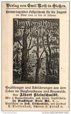 Original-Werbung/ Anzeige 1901 - ALBERT KLEINSCHMIDT : IM FORSTHAUS FALKENHORST - VERLAG ROTH GIESSEN -…